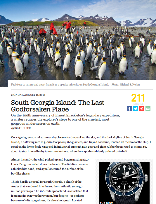 South Georgia Island: The Last Godforsaken Place